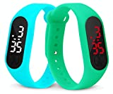 Combo of 2 Different Color Kids LED Watches LED Digital Glass Screen Time Display Date and Month Display :Light Weight Material Cool Color Design