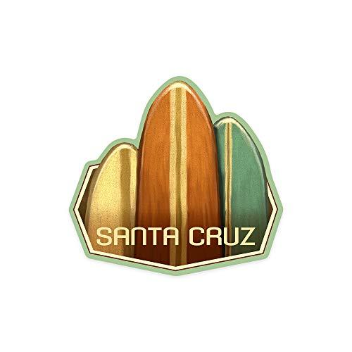 H421ld Santa Cruz, California, tablas de surf, pintura al óleo, contorno de vinilo para coche, camión, motocicleta, parachoques de pared, decoración de pared, interior/exterior