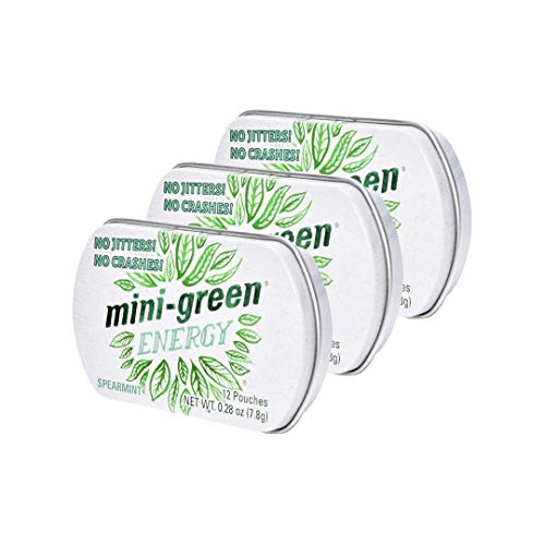 Mini-Green Energy Natural, Organic Energy Boost Pouches, Spearmint Flavor, 3-Pack