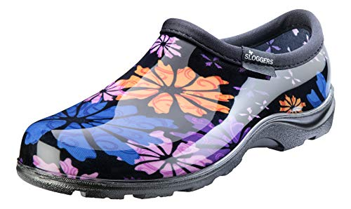 Sloggers Women's Waterproof Rain and Garden Shoe with Comfort Insole, Flower Power, Size 10, Style 5116FP10