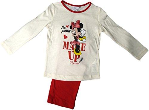 Disney Minnie Maus Schlafanzug - Minnies Make Up - Rot/Weiß/Mehrfarbig