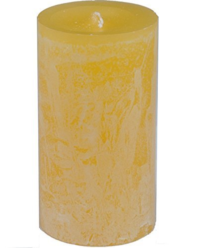 Vance Kitira Pale Yellow Timber Candle, 3.25' by 6'