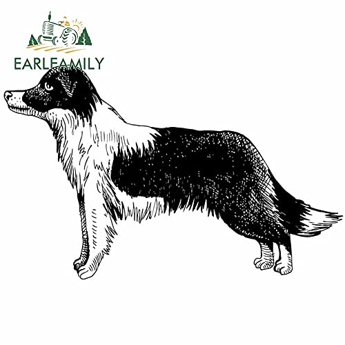 Car sticker 13cm For Border Collie Car Stickers Windshield Decal Waterproof Vinyl Material Personality For JDM SUV RV