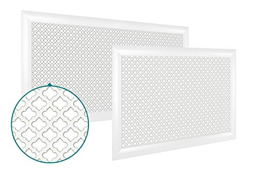wei/ße MDF-Platte modernes Design Finether Heizungsabdeckung S Wei/ß lackiert vertikale Streben