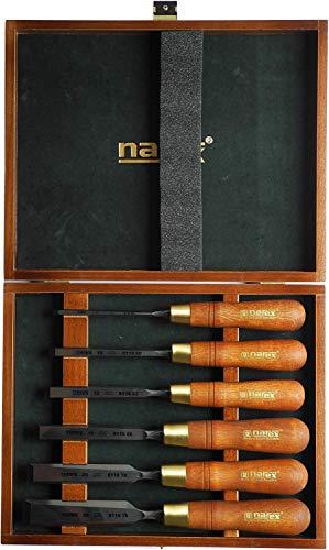 Narex Premium Stechbeitel Set, poliert, in Holzkiste, 6teilig