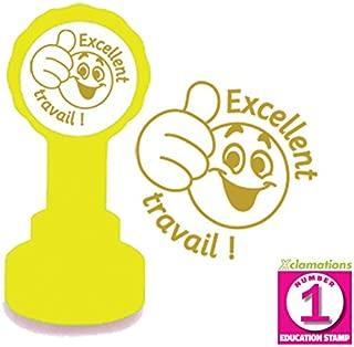 22/mm Qualit/à Xclamations timbro Eccellente Travail French Teacher stamp Inchiostro dorato