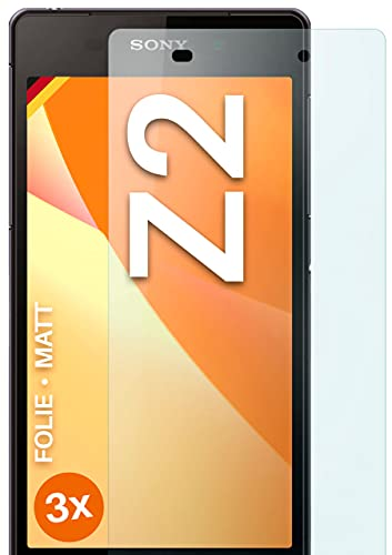 moex Schutzfolie matt kompatibel mit Sony Xperia Z2 - Folie gegen Reflexionen, Anti Reflex Bildschirmschutz, Matte Bildschirmfolie - 3X Stück