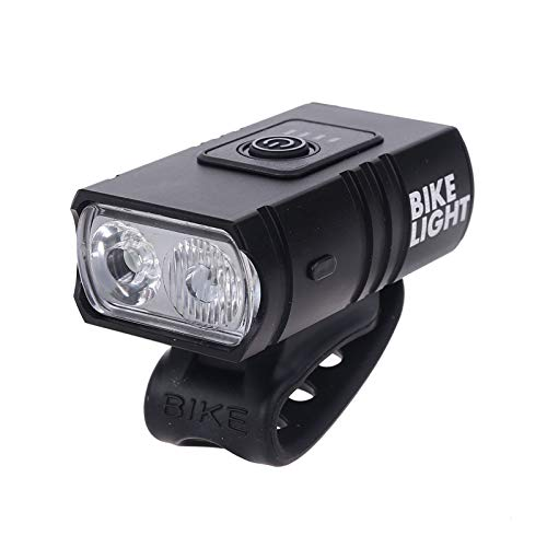 Wanghuaner 1/2 LEDs Super Bright Bike Light USB Rechargeable Waterproof Bicycle Front Light