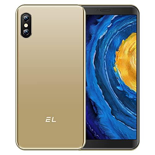 Teléfono Móvil Libre 4G EL 6C Pantalla completa de 5,5 pulgadas teléfono inteligente barato ROM de 16GB 128GB ampliable 8MP cámara ID de rostro Doble SIM Teléfonos móviles Android desbloqueado