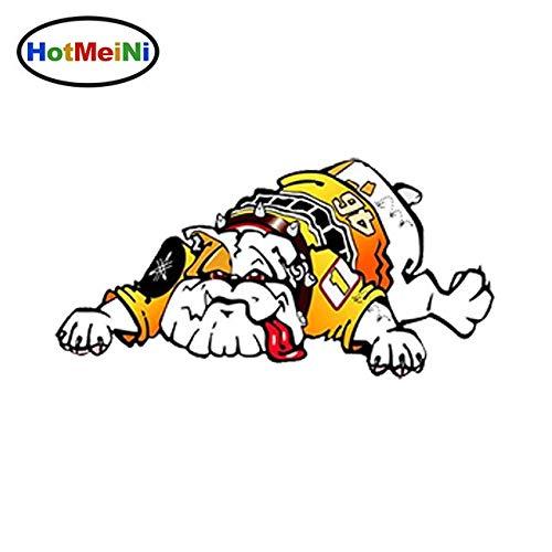 OLUYNG Pegatina de Vinilo para vehículos, Pegatina Impermeable de 13 cm x 6,5 cm para el diseño del Coche, calcomanías de Rossi Moto GP del día de San valentín en Forma deGuido Dog 46
