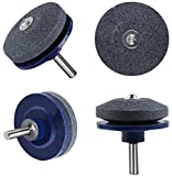 VOANZO 5PCS Afilador de cortacésped Afilador de cuchillas Afilador de cuchillas Amoladora Piedra de rueda para taladro eléctrico Taladro manual