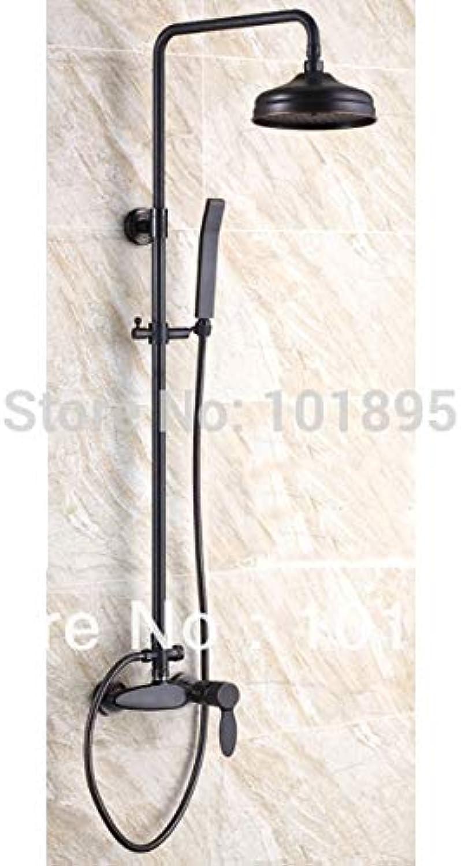 Einzelhandel - Luxus Messing Regendusche Set, schwarze Duschstange, Duschsule zur Wandmontage, versandkostenfrei L15217, schwarz