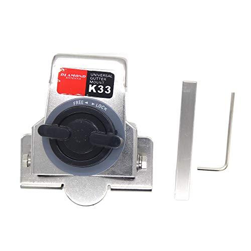 Viudecce K33 Clip de Montaje de Ventana Trasera Soporte de Antena para Transceptor de Radioaficionado