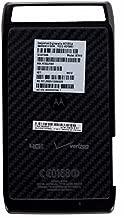 Verizon Droid Razr Battery Door OEM BLACK, Original Motorola XT912 Rear Battery Housing Cover with Installation Adhesive, Genuine Motorola Droid Razr XT910 Back Battery Cover Black with Double Sided Installation Tape