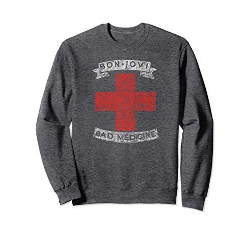 Bon Jovi Bad Medicine Sweatshirt, Dark Heather, S to 2XL