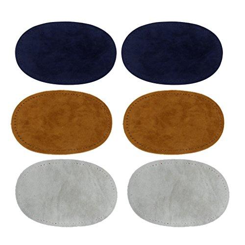 Sharplace 3 Paar Annähen Oval Ellenbogen/Knie Patches Jeans Reparatur Handwerk Nähen Applique - Farbe 2