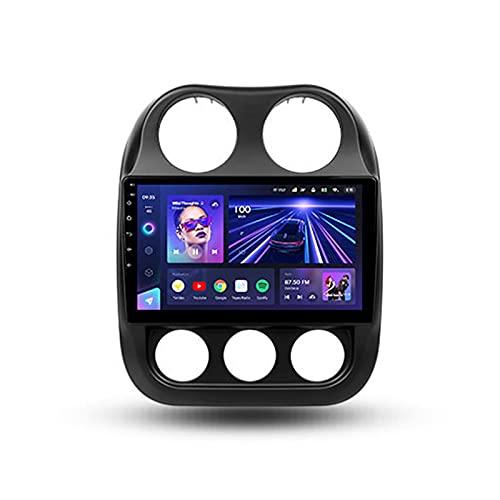 Android 10.0 Estéreo Automóvil 10.2'' Carplay Radio Para Jeep Compass 1 2009-2015,Soporte BT Wifi Mandos De Volante Cámara Trasera Enlace Espejo 3D Dinámica De Conducción En Tiempo Real,Cc3,3+32G