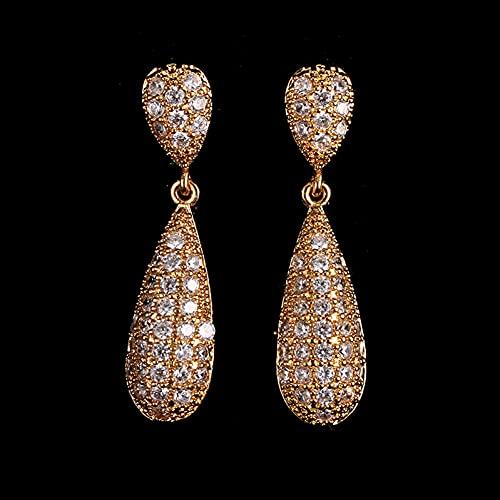 YCEOT Pendientes largos de cristal para mujer, joyería nupcial