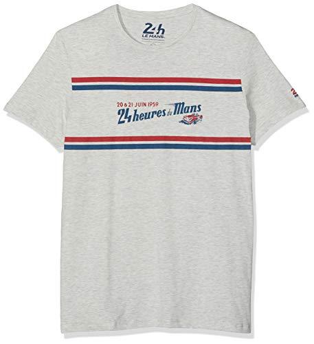 Springfield 10LC Lemans Camiseta, Gris (Gama Grises 42), Small (Tamaño del Fabricante:S) para Hombre