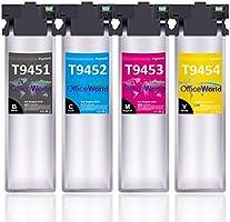OFFICEWORLD T9451-T9454 Sostituzione per Epson 945 T9451 T9452 T9453 T9454 Cartucce d'inchiostro per Epson WorkForce Pro...