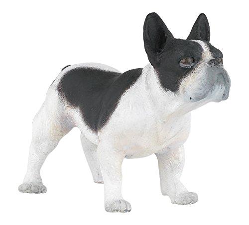 Figura bulldog francés blanco y negro