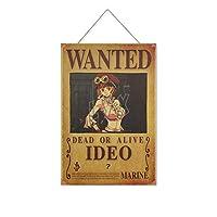 ワンピー-スアニメIDEO 木製のリストプラーク木の看板ぶら下げ木製絵画パーソナライズされた広告ヴィンテージウォールサイン装飾ポスターアートサイン