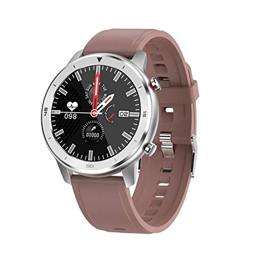 FFF8 Smart Watch Men Women Sports Clock Heart Rate Monitor SmartWatch para iOS Android Teléfono (Color : Silicon Brown)