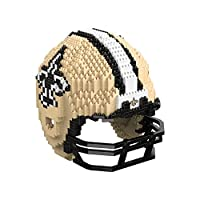 FOCO New Orleans Saints NFL 3D BRXLZ Puzzle Replica Helmet Set