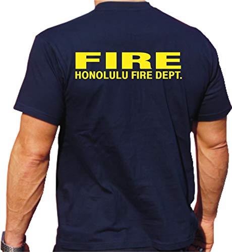 feuer1 T-Shirt Honolulu Fire Dept. L bleu marine