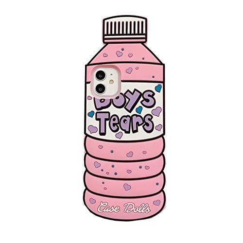 """SevenPanda Karikatur Hülle für iPhone 11 Pro 5.8"""", Mineralwasserflaschen 3D Niedliche Weiche Silikonkautschuk Schutzgel Rückseite, Animiert für Kinder Mädchen (Boys Tears Rosa, iPhone 11 Pro)"""