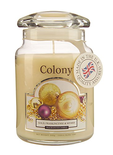 Colony, Kerze im Glas, L, Gold, Frankinsense & Myrrhe, .