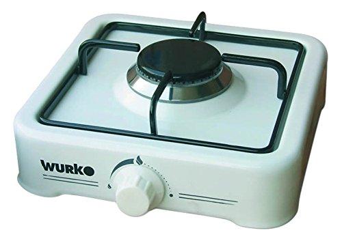 Wurko 027030-gas, 1 fuoco, smaltato Bianco