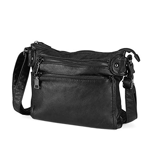 BAIGIO Ladies Handbag Leather Shoulder Bag Women Tote Messenger Bag for...