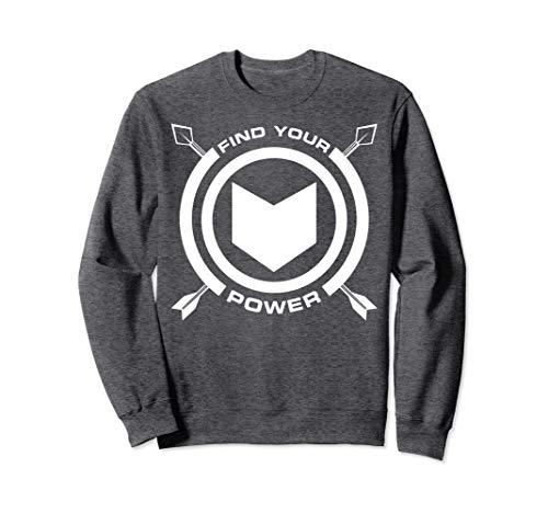 Marvel Hawkeye Find Your Power Simple Logo Sweatshirt