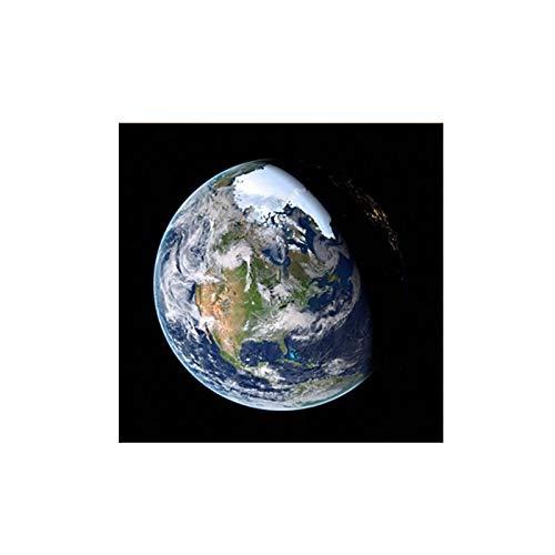 SHENLANYU Globo Abstracto Carteles de la Tierra Cuadros del Planeta Pintura en Lienzo Arte de la Pared Impresiones para la Sala de Estar Decorativa 23.6'x23.6 (60x60cm) Sin Marco