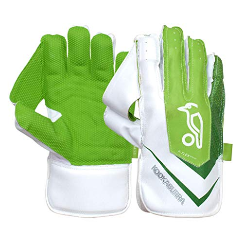 KOOKABURRA Unisex-Youth 2020 LC 5.0 Wicket Keeping Gloves, White/Green