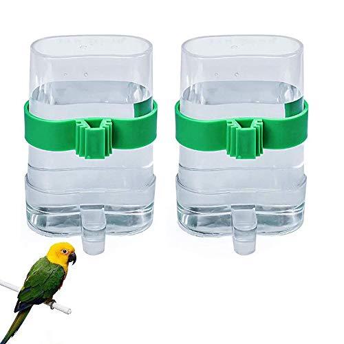 zfdg Pájaros Dispensadora de Agua, 2 Piezas Pájaros Dispensador de Alimentos, Dispensador de Agua para Loros, para Mascotas Aves Loros Palomas Alimentación Automática Agua Potable