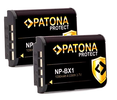 Batería PATONA Protect V1 (2X) NP-BX1 - Compatible con Sony Vlog ZV-1...