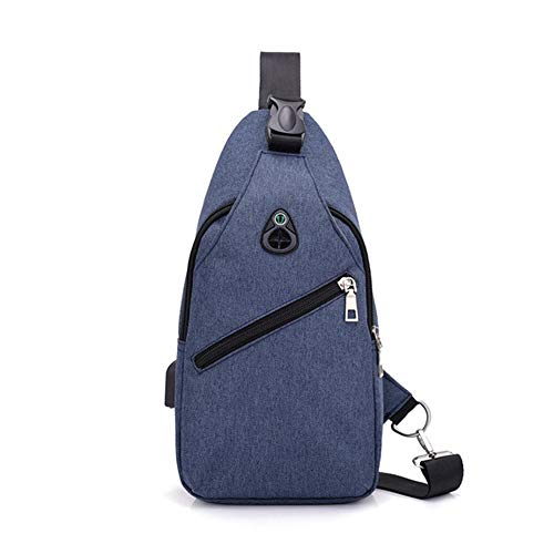 Dihope, - Bolso Hombro Hombre Azul 17 cm * 9 cm *