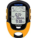 SUNROAD GPS Digital Waterproof Outdoor Altitude Pre-Warning Remind Compass Stopwatch Sports Altimeter-Barometer Weather Forcast Pedometer (Yellow)