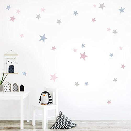 Estrellas combinación rosa palo - Vinilos bebé