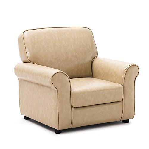 ZHANGRONG- Canapé pour enfants bébé canapé chaise Candy couleur mini canapé mignon siège Multicolore en option -Tabouret de canapé (Couleur : Beige (PU))