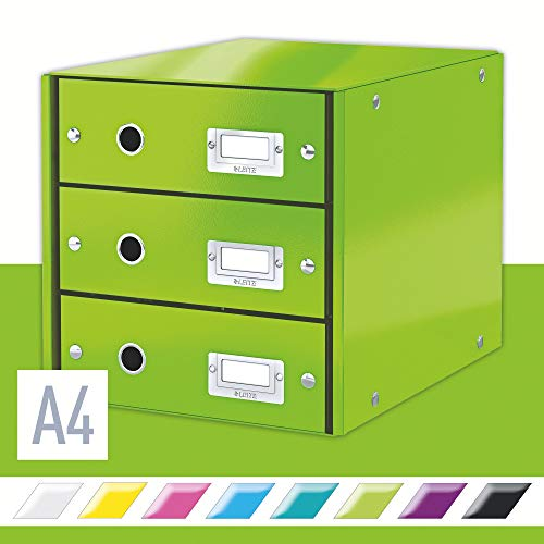 Leitz Ladekast Click & Store Wow 3Drawer, Groen