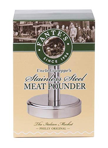 Fantes Meat Pounder, Stainless Steel, 5-Inches Tall with 3.25-Inch Pounding Surface, The Italian Market Original since 1906