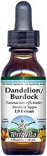 Dandelion Root and Burdock Root - Glycerite Liquid Extract (1:5) - No Flavor (1 fl oz, ZIN: 428264) - 3 Pack