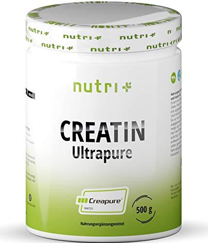 Creapure 500g - CREATIN MONOHYDRAT Pulver - 99,99% rein - höchste Dosierung - Ultrafeines Kreatin Neutral - Nutri-Plus Creatine Powder Vegan - Premiumqualität aus Deutschland