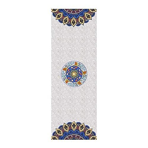 GWGW Mat de Yoga Mat de Danza para niños Mat de Goma Natural Que se Mueve la Estera móvil(173 * 61 * 0.4cm,patrón Blanco)