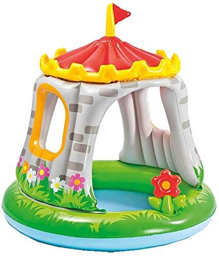 HYISHION Royal Castle Babypool - Kinder Aufstellpool - Planschbecken,122 * 122cm