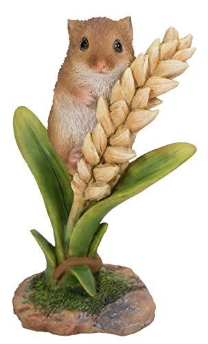 NF-DM07-F Deko-Maus auf Weizen, sehr detailliert