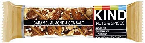 Kind Caramel, Almond and Sea Salt Nuts Bar 40g, Our Bars are Always Tasty and Nutritious, Pack of 12